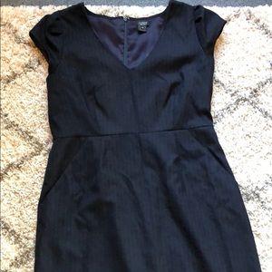 Jcrew pinstripe dress super 120